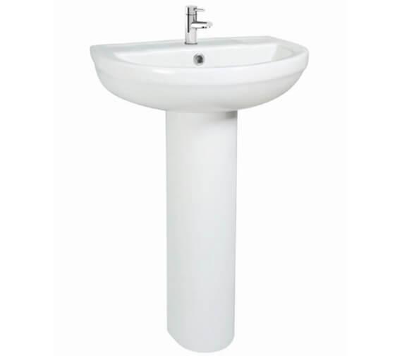 Harrison Bathrooms Omni 550mm Basin With Full Pedestal