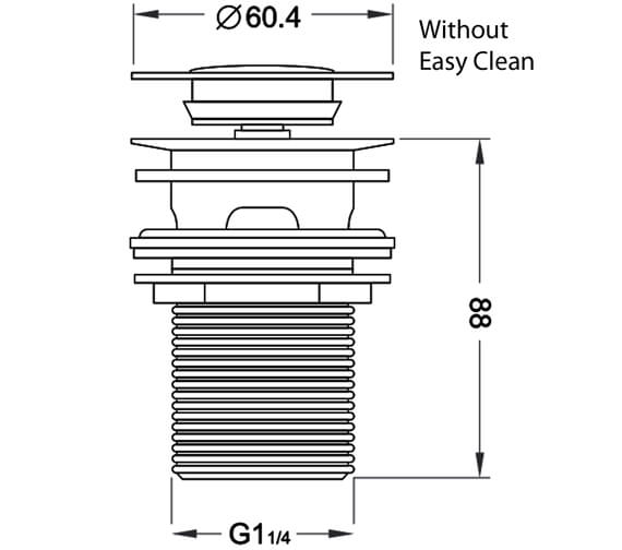 Technical drawing QS-V102825 / BASWASTE08
