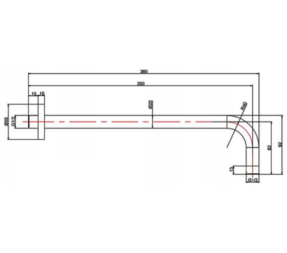 Technical drawing QS-V95701 / PRO684M+