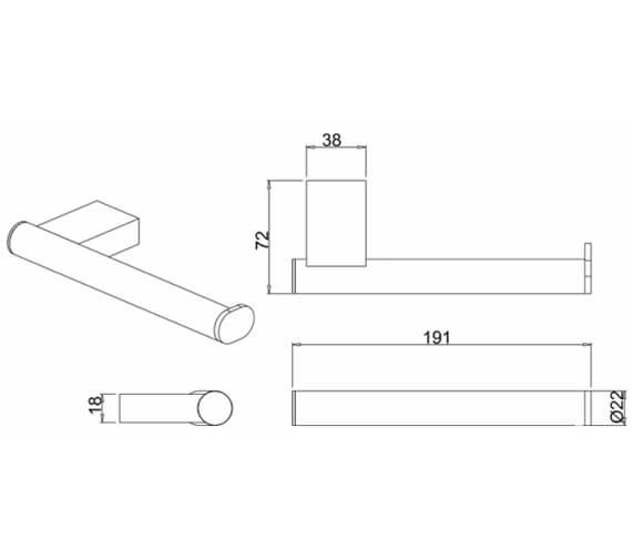 Technical drawing QS-V27532 / PRO029C