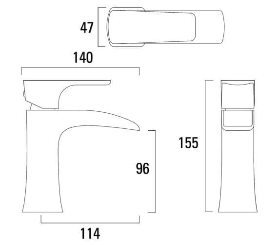 Technical drawing QS-V79347 / T176102