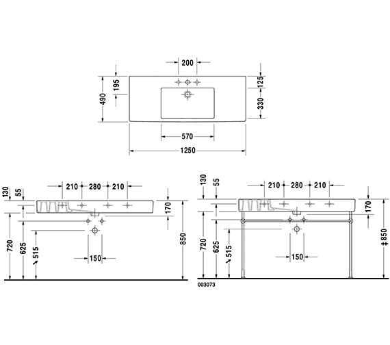 Technical drawing QS-V96415 / 329850000