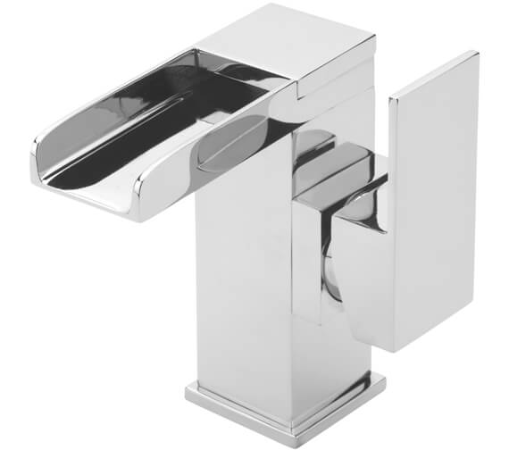 Tre Mercati Geysir Side Lever Mono Basin Mixer Tap With Click Clack Waste