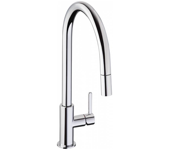 Abode Althia Single Lever Pull Out Kitchen Tap