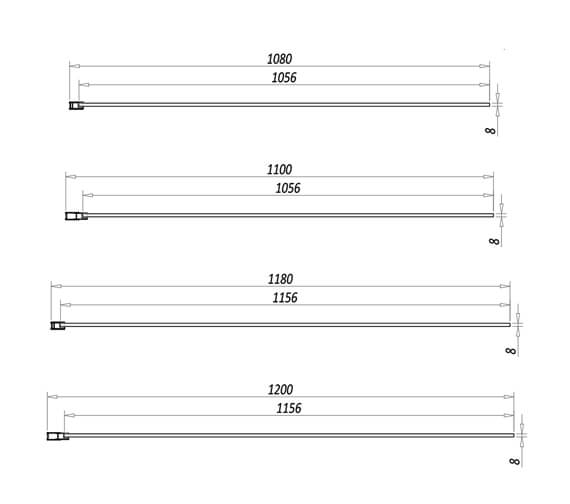 Technical drawing QS-V102813 / A8GLASSPAN01