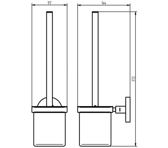 Technical drawing QS-V104170 / 1190835