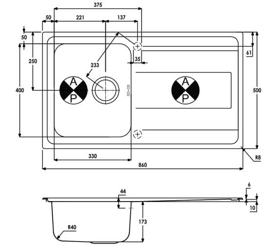 Technical drawing QS-V104058 / AW5101
