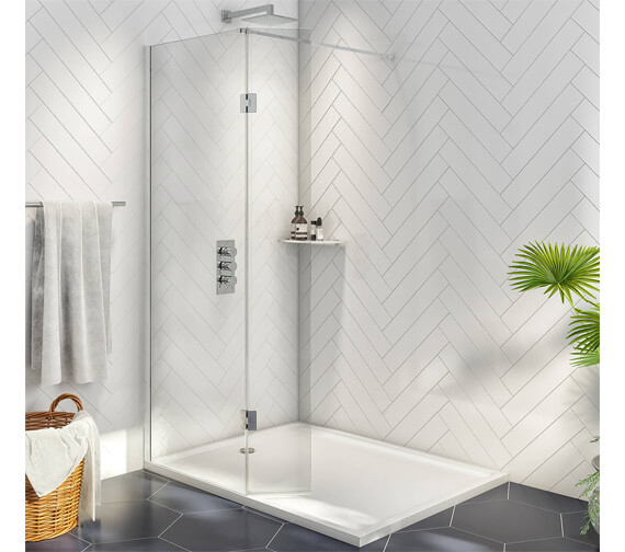 Harrison Bathrooms 2000mm Height A8 Wetroom With 275mm Return Panel