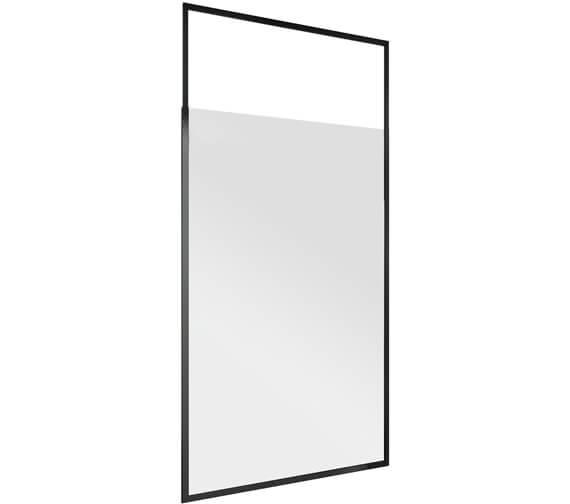 Harrison Bathrooms Noire Black Frame Telescopic Wetroom Glass Panels
