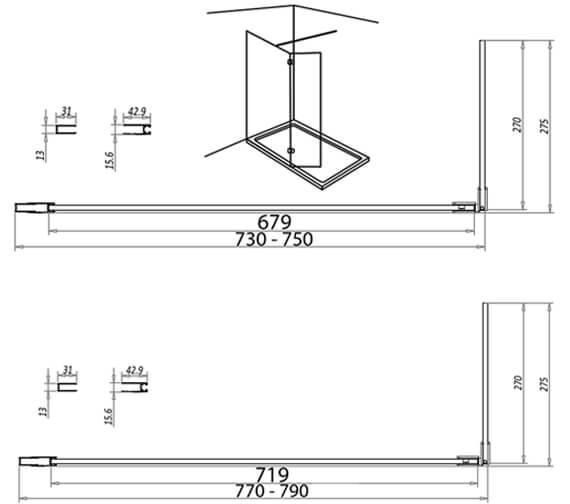 Technical drawing QS-V102815 / A8GLASSSET01
