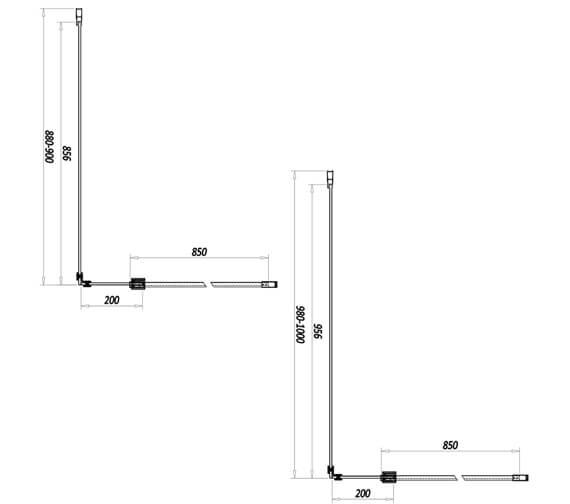 Technical drawing QS-V102814 / A8GLASSPAN09