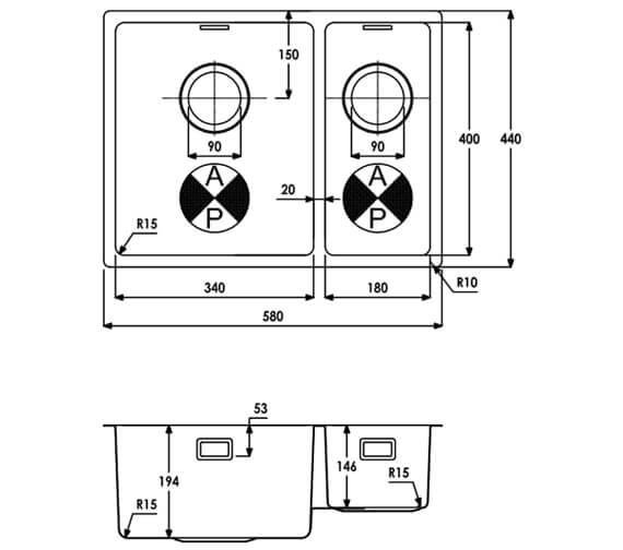 Technical drawing QS-V104074 / AW5124