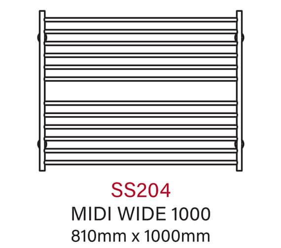 Technical drawing QS-V54350 / SS204
