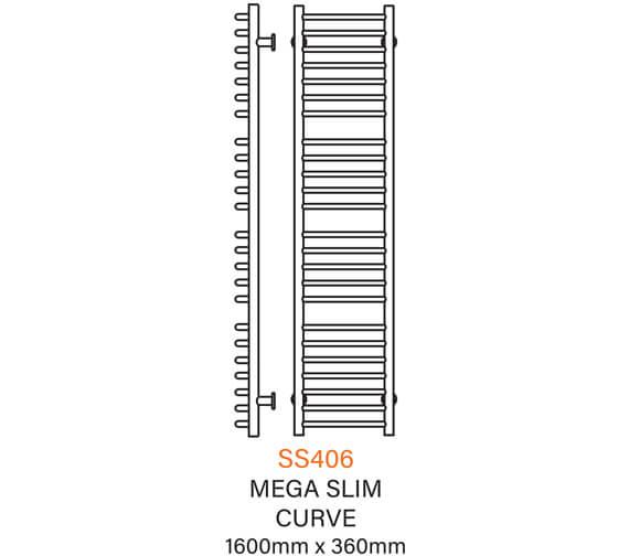 Technical drawing QS-V54344 / SS406