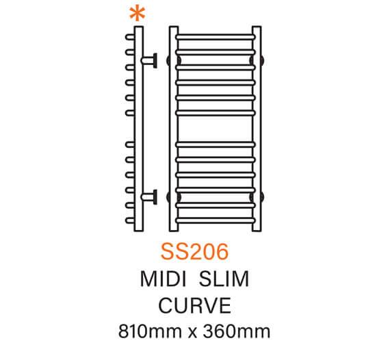 Technical drawing QS-V54342 / SS206