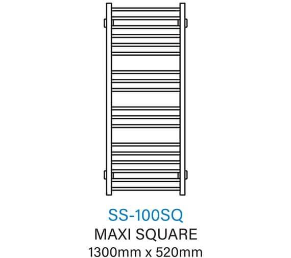 Technical drawing QS-V54360 / SS-100SQ
