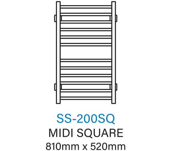Technical drawing QS-V54356 / SS-200SQ