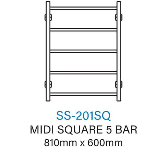 Technical drawing QS-V54359 / SS-201SQE