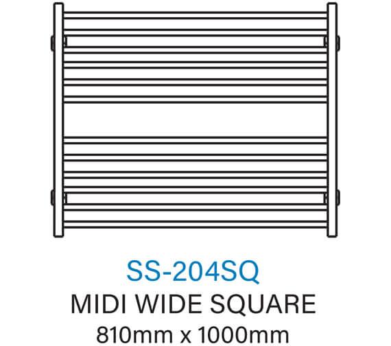 Technical drawing QS-V54366 / SS-204SQ