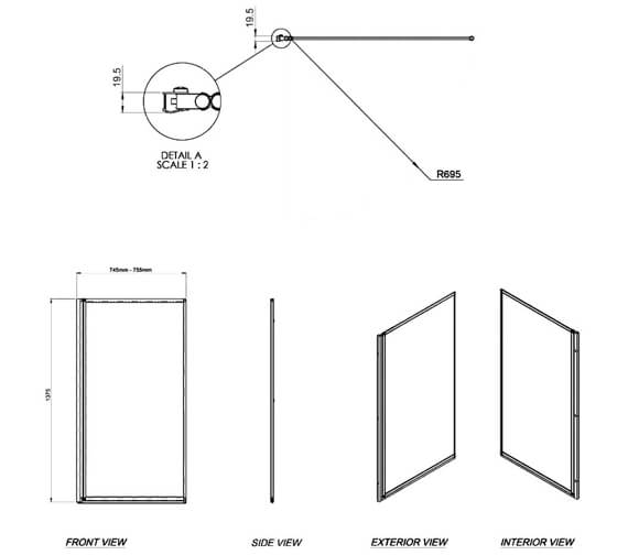 Technical drawing QS-V9290 / 1160767