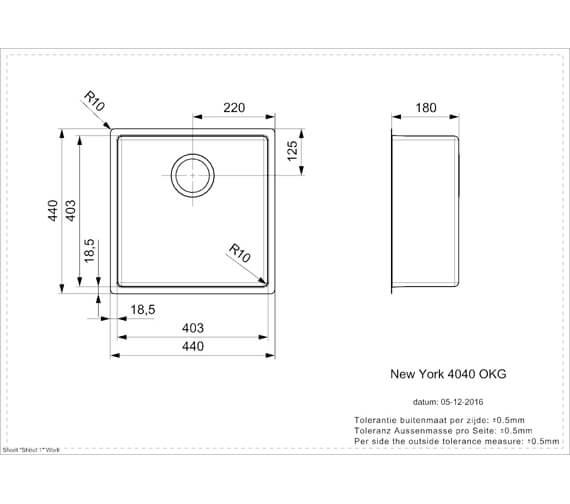 Technical drawing QS-V103487 / New York 40x40 JB