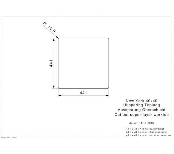 Additional image of Reginox New York Jet Black Single Bowl Sink With Aurora Chrome And Black Mixer Tap