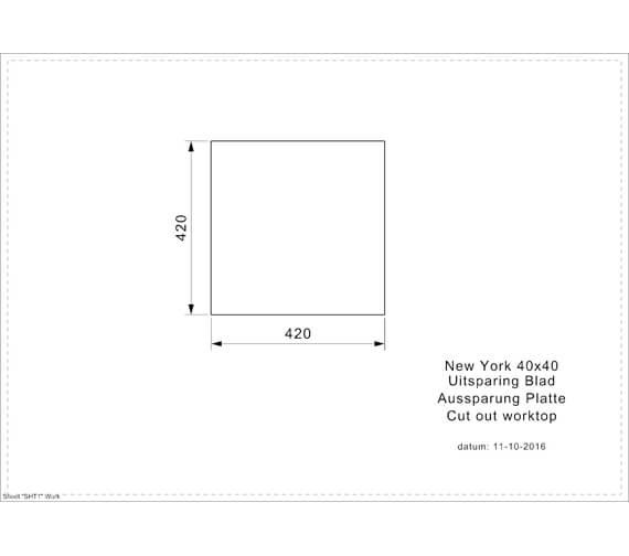Additional image for QS-V103487 Reginox Sinks - New York 40x40 JB