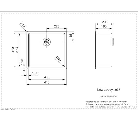 Technical drawing QS-V103448 / NEW JERSEY 40X37