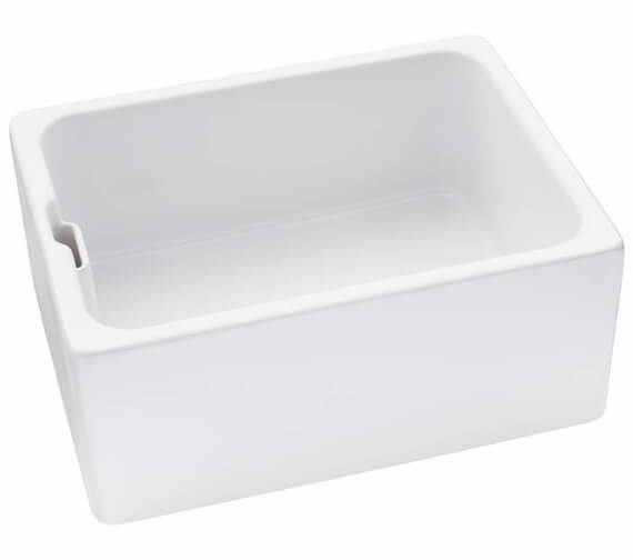 Abode Belfast Ceramic Reversible 1.0 Kitchen Sink Bowl