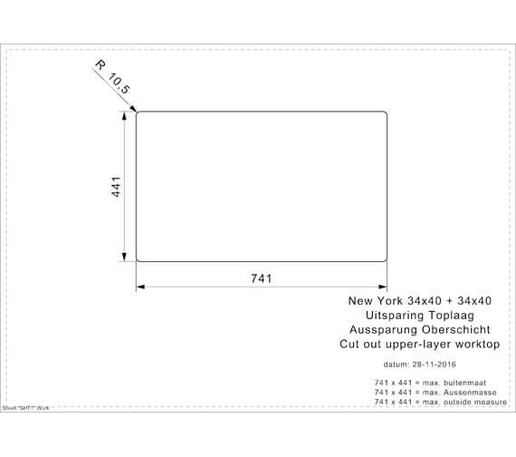 Additional image for QS-V103450 Reginox Sinks - NEW YORK 34X40+34X40