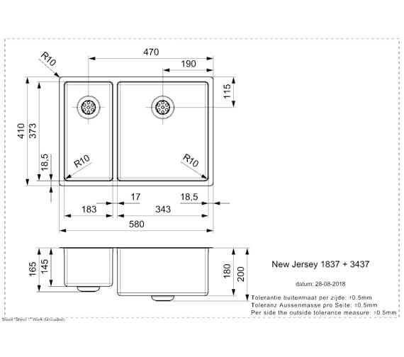 Technical drawing QS-V103451 / NEWJERSEY18X37+34X37