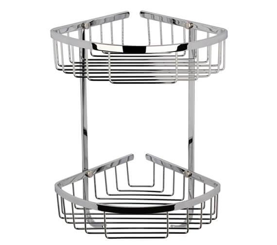 Hudson Reed Large 2 Tier Corner Basket Chrome
