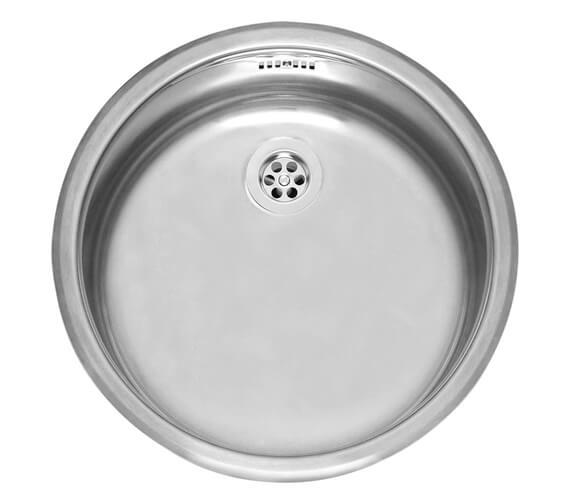 Reginox R18 370 OSP Single Round Bowl Stainless Steel Kitchen Sink 420mm