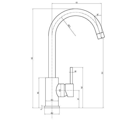 Technical drawing QS-V103464 / KALIX BN