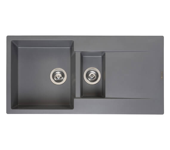 Additional image of Reginox Amsterdam 15 Inset 1.5 Bowl Granite Kitchen Sink 1000 x 500mm