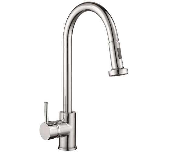Reginox Tanaro Single Lever Kitchen Mixer Tap With Pull Out Spray