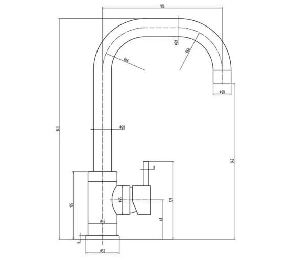 Technical drawing QS-V103468 / RION BN