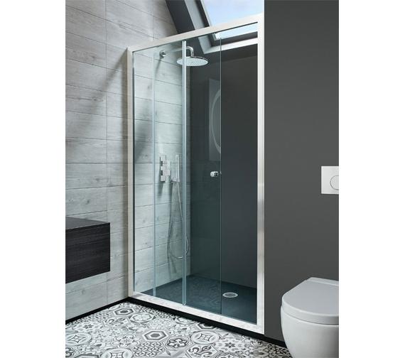 Simpsons Edge Framed Single Shower Slider Door