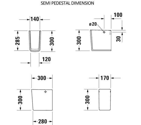 Technical drawing QS-V6354 / 2335550000