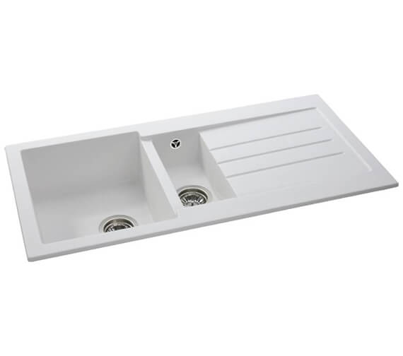 Abode Xcite Reversible 1.5 Kitchen Sink Bowl And Drainer