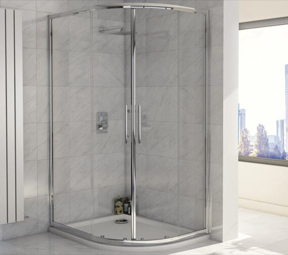 Alternate image of Harrison Bathrooms A8 1900mm Height Double Door Offset Quadrant