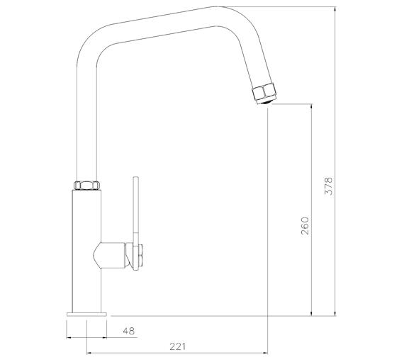 Technical drawing QS-V104009 / AT2085