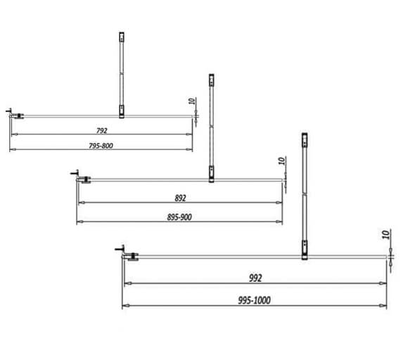 Technical drawing QS-V102810 / A10SHOWERPAN600