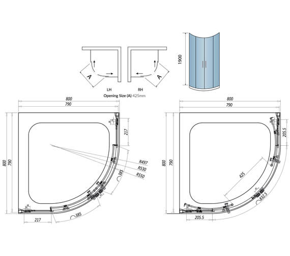Technical drawing QS-V102739 / A8SHOWER01