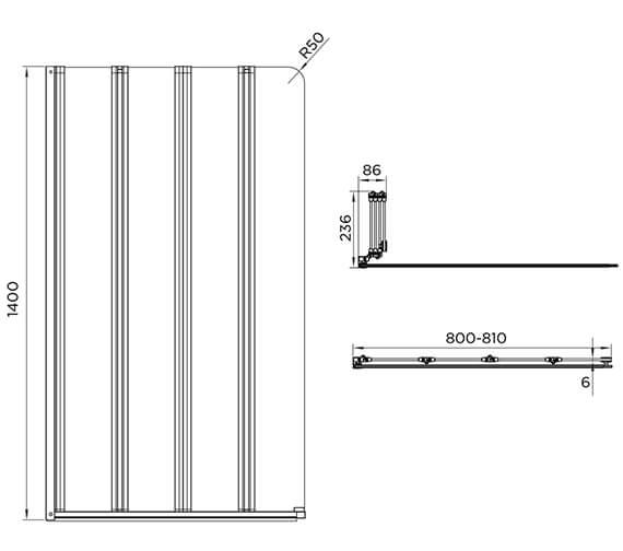 Technical drawing QS-V88655 / AQ9357RS