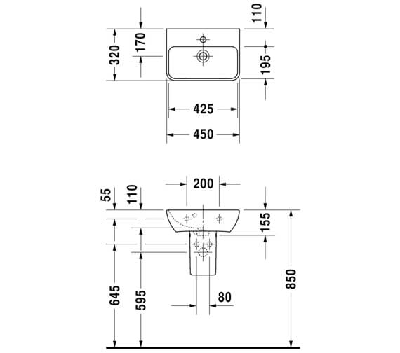 Technical drawing QS-V6355 / 0719450000