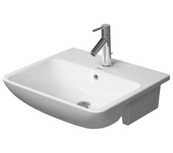 Duravit ME By Starck 550 x 455mm Semi Recessed Washbasin