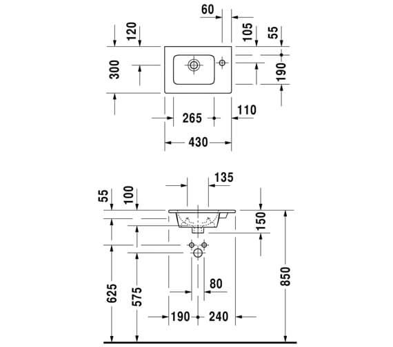 Technical drawing QS-V88883 / 0723430000