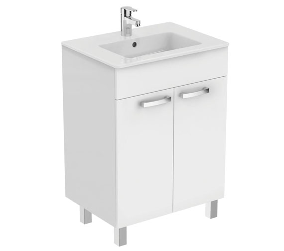 Ideal Standard Tempo Floorstanding 2 Door Vanity Unit With Legs