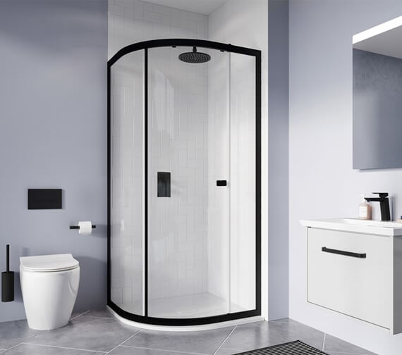 Crosswater Clear 6 800 x 800mm Single Door Quadrant With Tray And Waste